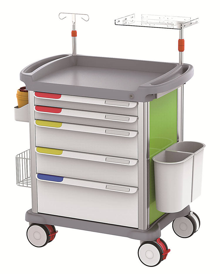 MT Medical hospital furniture ABS emergency cart medical trolley price