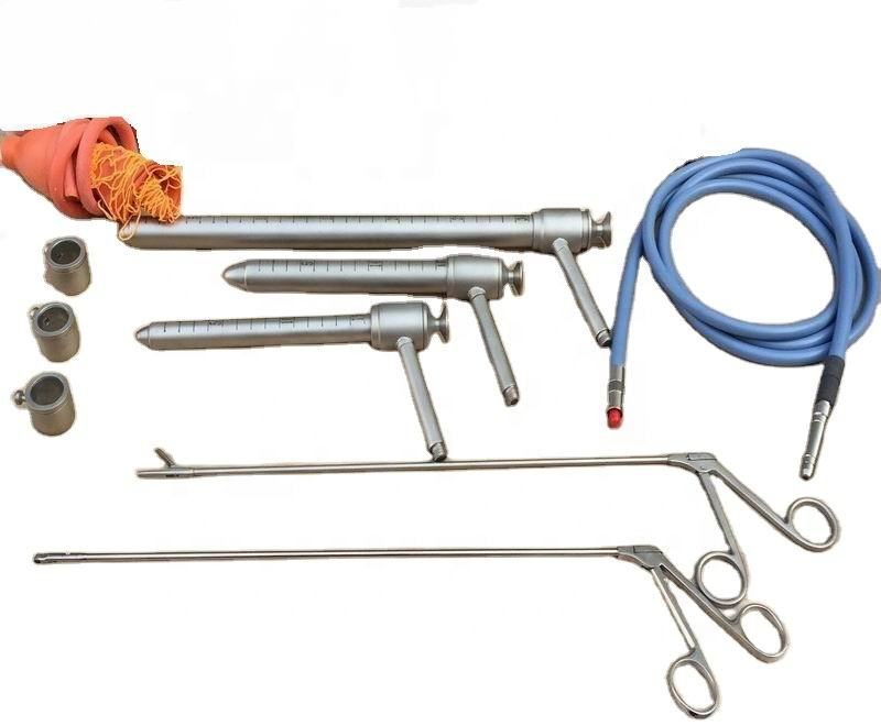 Surgical anorectal surgery instruments proctoscope with light