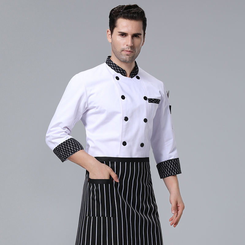 Hoge Kwaliteit <span class=keywords><strong>Chef</strong></span> Uniform Custom <span class=keywords><strong>Design</strong></span> Mannen Wit Uniform <span class=keywords><strong>Chef</strong></span>
