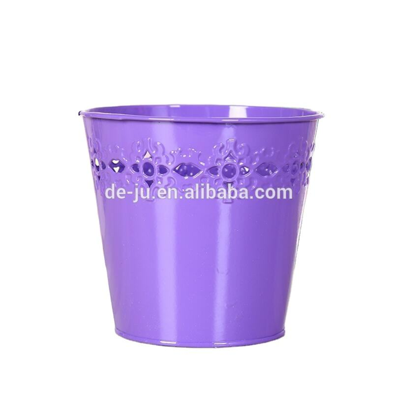 Small Part Holder Hollow Metal Plant Pot