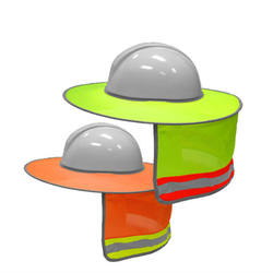 Hard Hat Sun Neck Shield Full Brim Sunshade for Hard Hats, Reflective, High Visibility, Full Brim Mesh Sun Shade Protector