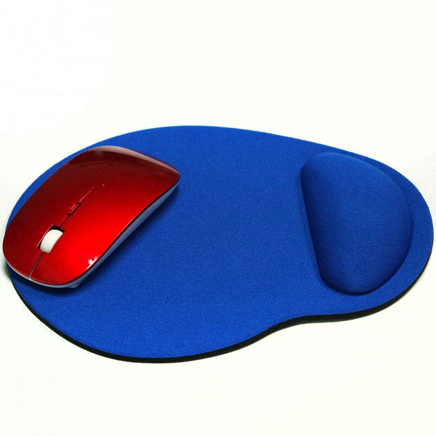 New Small Feet Shape Mouse Pad Support Wrist Comfort Mat Solid Color Computer Mouse Pad