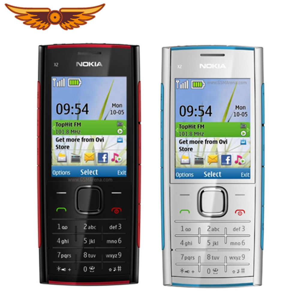Originele Nokia X2-00 Bluetooth Fm Java 5MP Unlocked Mobiele Telefoon Hot Selling In Polen
