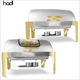 Restaurant equipment buffet stove catering service gold plated chafing dish set stainless steel with low moq