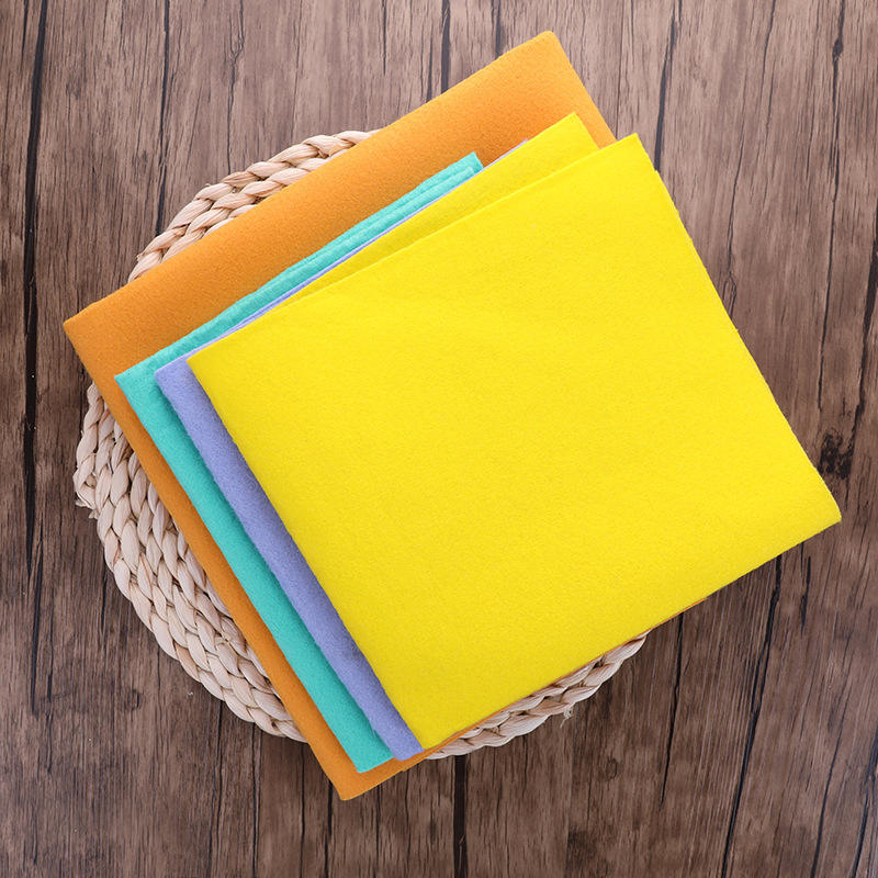 Colorful Swedish Dishcloth Reusable Cleaning Kitchen Sponge Cloth Wood Pulp Cotton Super Absorbent Drying Eco-Friendly Non-woven
