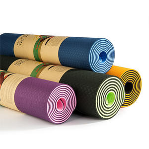 Double color TPE yoga mat widened thickening environmental fitness yoga mat