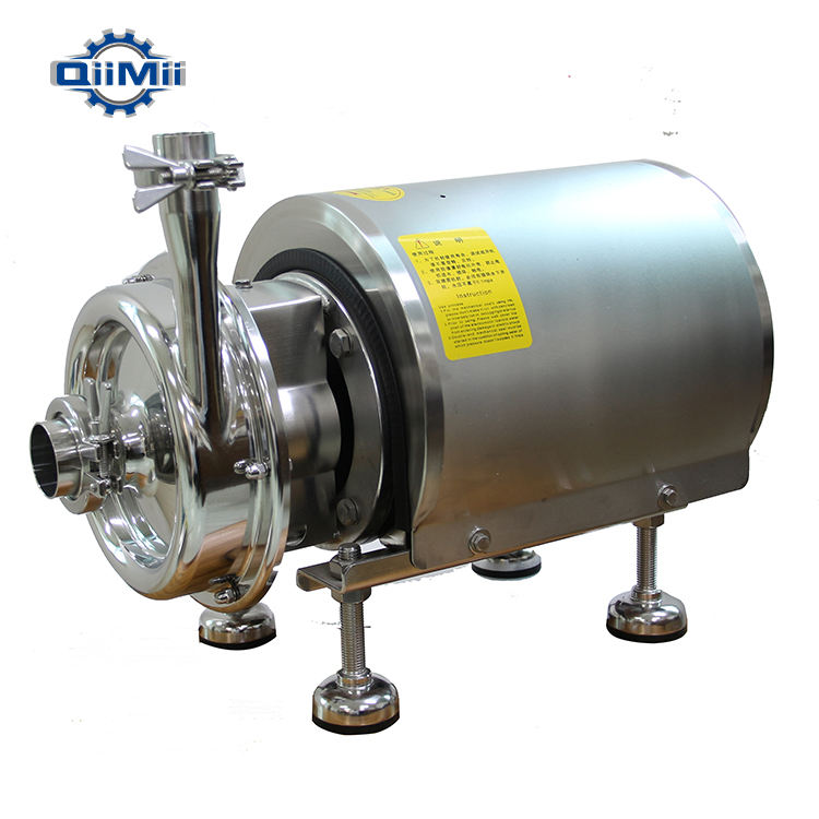 0.75kw-1.1kw QKH series Food Grade Centrifugal Hydraulic Pump With Clamped Connection