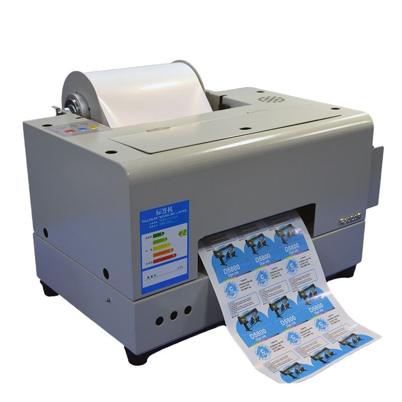 Fcolor Factory price Digital Inkjet 210mm*50m Roll PET Color Label Sticker Printer Cheap For Bottle Machine
