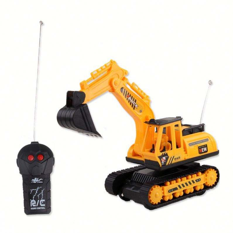 1:24 Intelligence kids electric engineering car plastic rc construction set in window box remote control toys rc car excavator