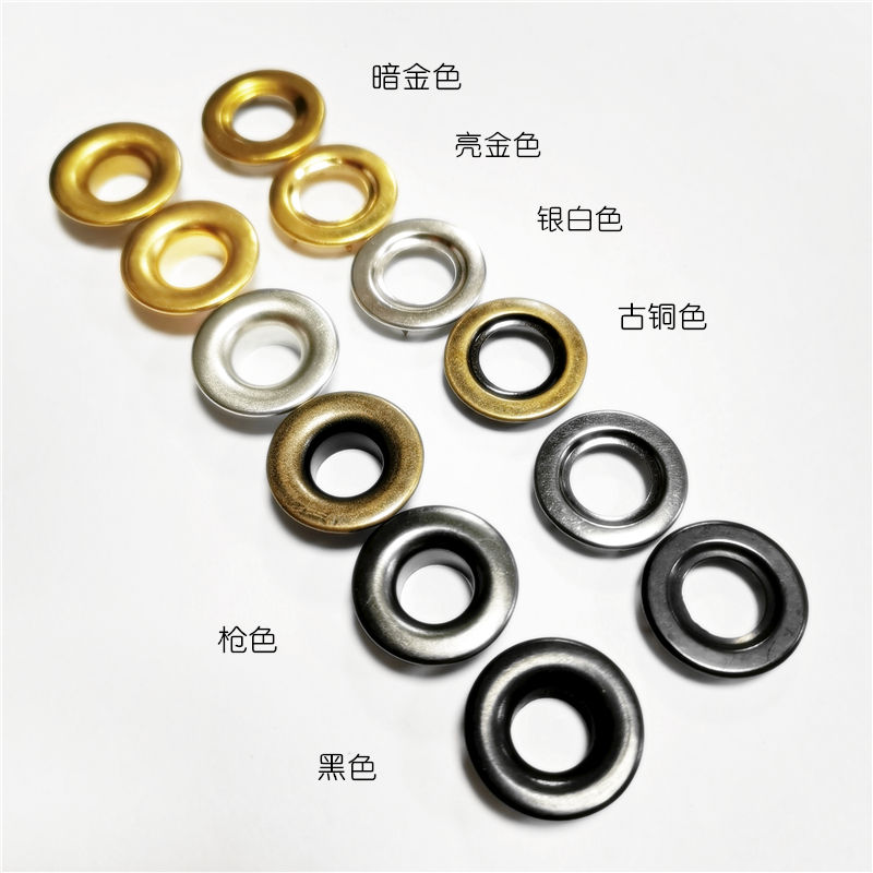 21*9.5MM metal material harder rolled rim plating colors with 6 spur claws Gasket 2 part 9.5 MM inside diameter brass eyelet