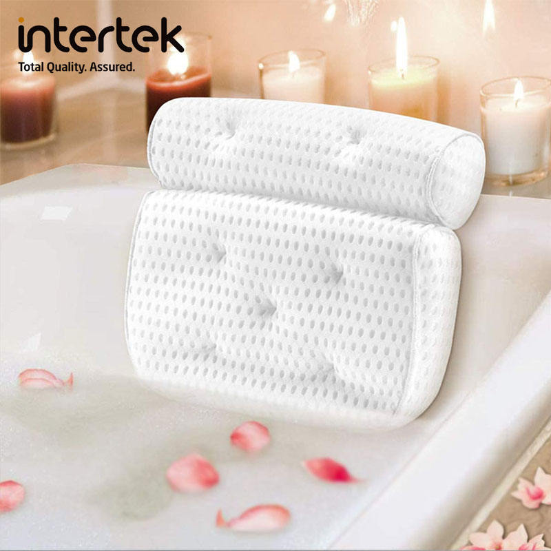GRS anti mite spa bath pillow Soft and comfortable 3D air mesh bath pillow