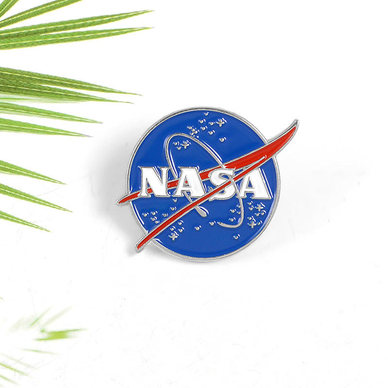 Nasa design metall revers pin/emaille pin abzeichen