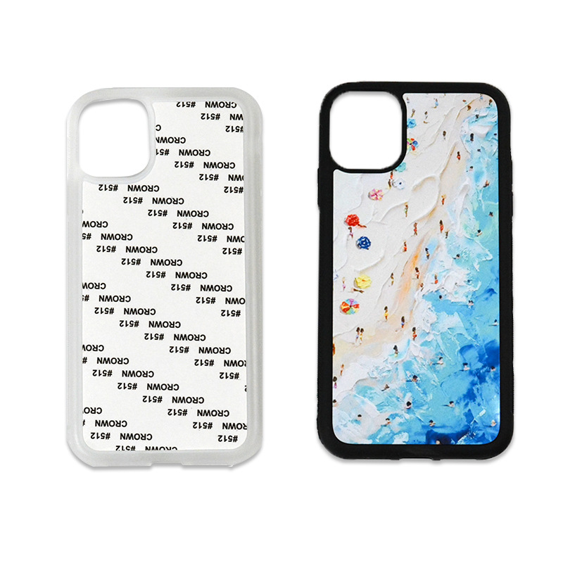 2020 High quality eco friendly 2D sublimation blanks TPU PC mobile cell Phone cases personalized printing