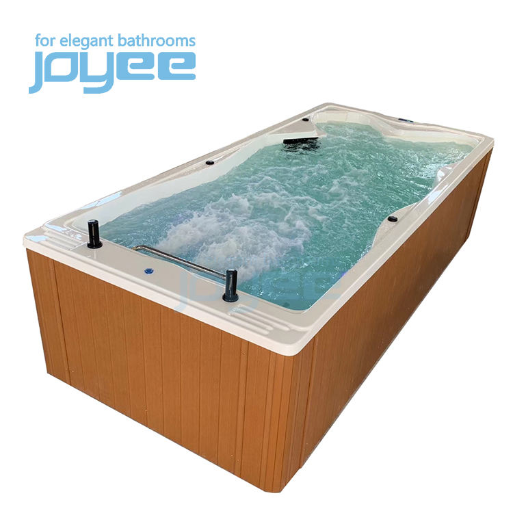 2020 Outdoor intex rectangular endless 4.8m used large dual zone swim spa balboa container swimming spa pool for sales