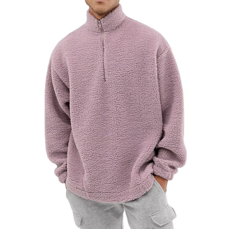 Oversized Fit Custom Ontwerp Mens Hoge Hals Fleece Half Zip Fleece Sweatshirts