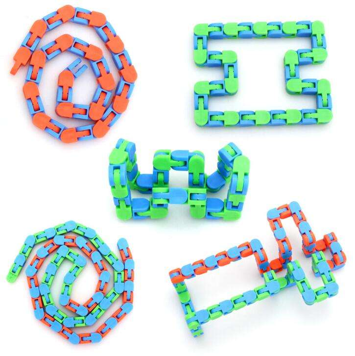 Wacky Tracks Snap and Click Fidget Toy for Kids