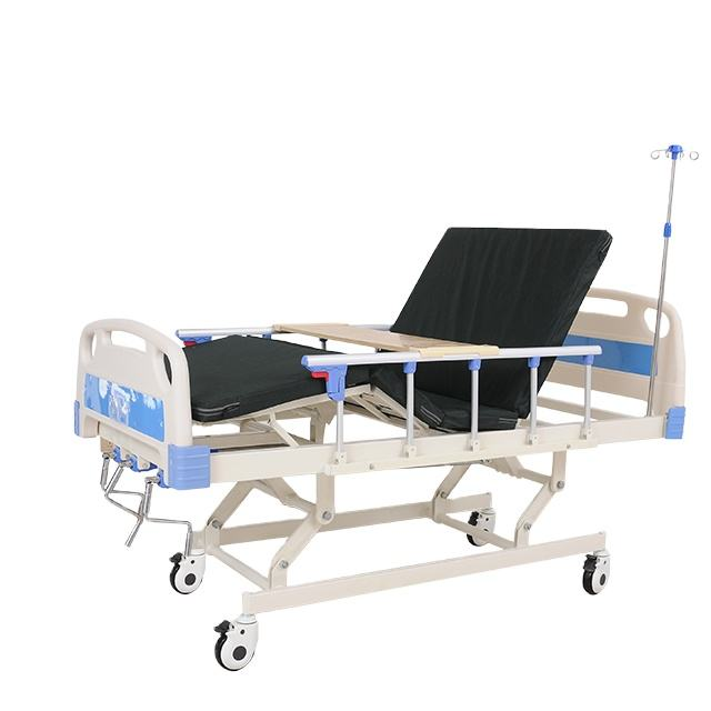 Cheap Metal 3 Crank Manual Medical Bed Nursing Hospital Bed