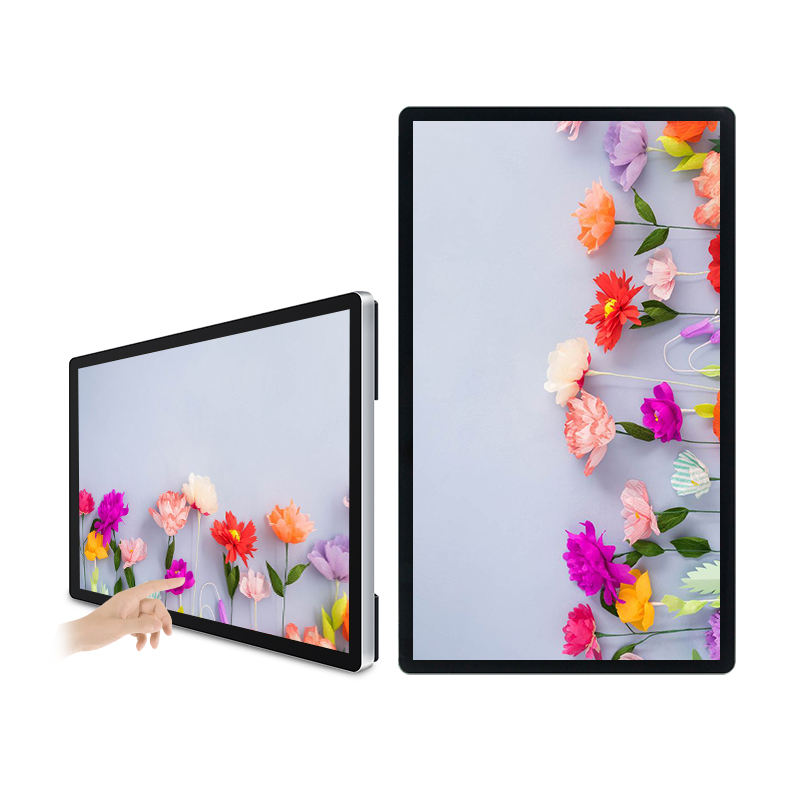 Vertical Custom Factory Full HD LED Monitor PCAP 27 32 43 Inch Touch Screen Monitor With Wall Mount