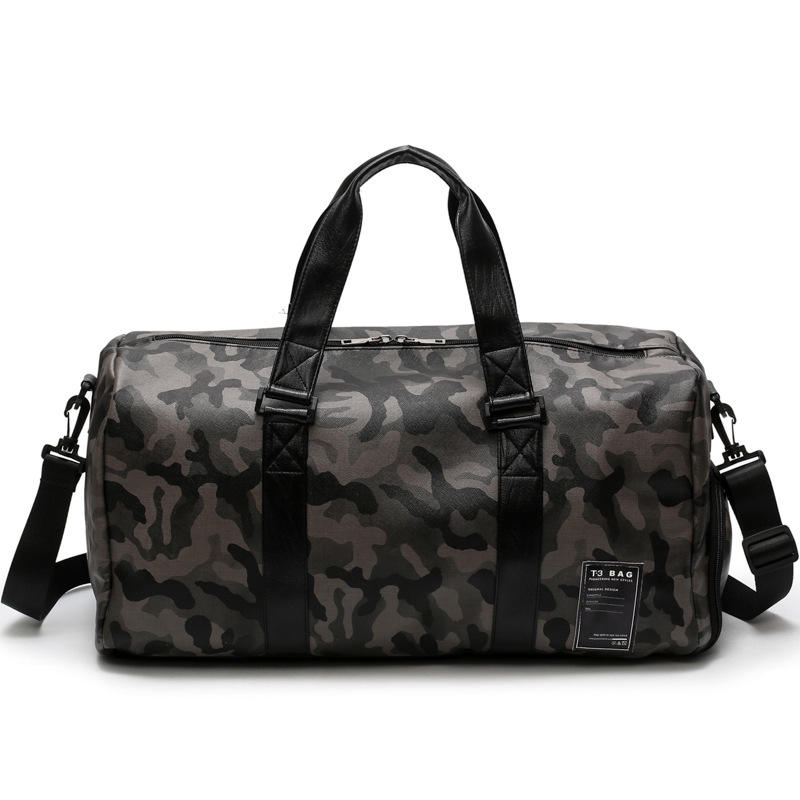 customized logo sports camouflage gym bag outdoor travel tote bag