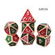 Custom 20 sided dungeons and dragon metal dice polyhedral dice set with tin boxes packed
