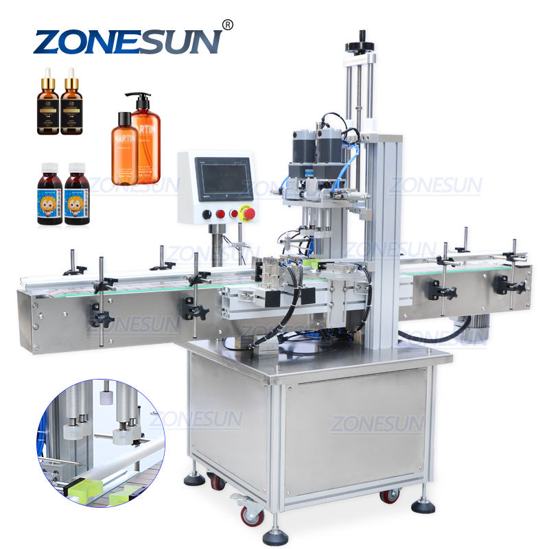 ZONESUN ZS-XG16 Pump Cap Automatic Plastic Bottle Jar Capping Machines For Pet Bottles
