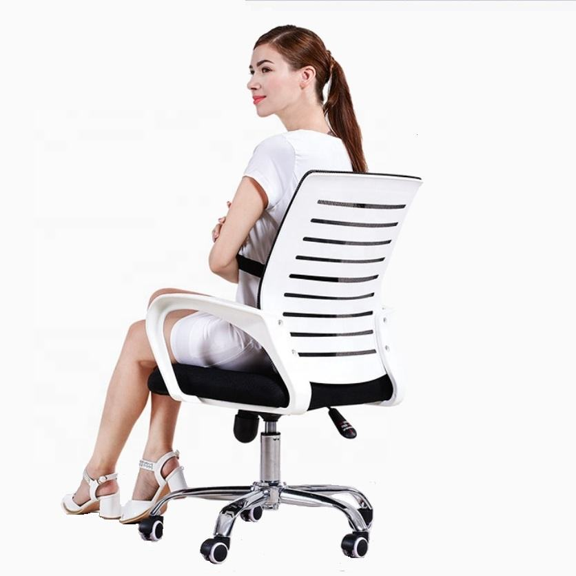 Good Quality Black Swivel Rocking Staff Computer Mesh Fabric Office Chair For 150kgs People Use