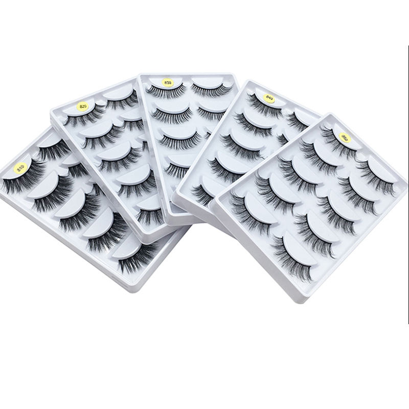Most popular 3D effect eyelashes 5 pairs false eyelashes new desgin factory eyelashes