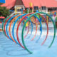 Water Pool Toys 4 Color Rainbow Gallery D 1.8 m for Children