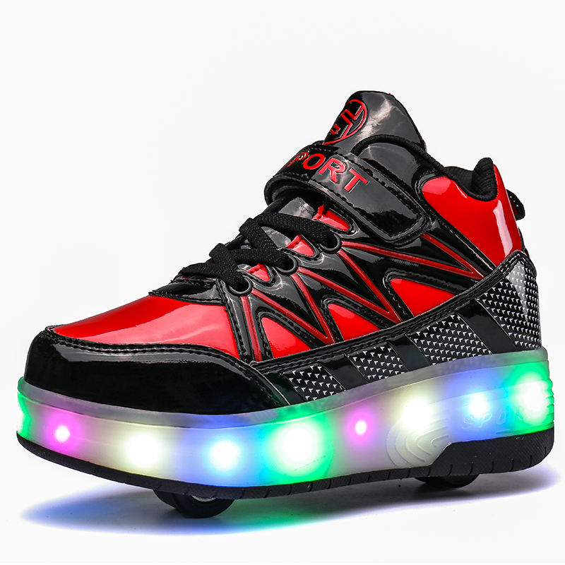 China factory LED flash roller skate shoes light low price for adult and kid