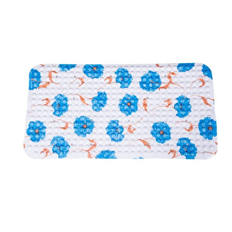 YIDE Factory Supply Thin Curved Custom Size Kids Baby Anti-slip Waterproof Eco-Friendly PVC Plastic Non Slip Bath Mat