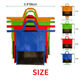 Wholesale Reusable 4Pcs 4 Colors Non Woven foldable Supermarket folding Grocery shopping trolley bag