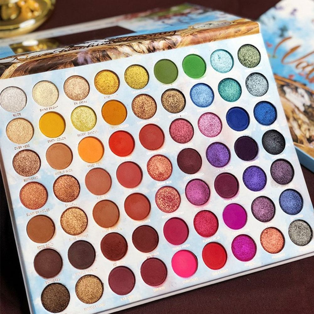 High Pigment Nude Color Eyeshadow Palette OEM 63 Colors Beauty Makeup Eye Shadow Powder