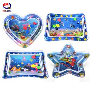 custom shape design baby water play mat sensory toys leakproof tummy time baby inflatable play mat