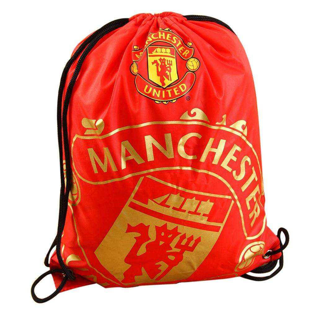 Wholesale Soccer Club Man utd Real Madrid Barca Drawstring Nylon Backpack Sports Bags