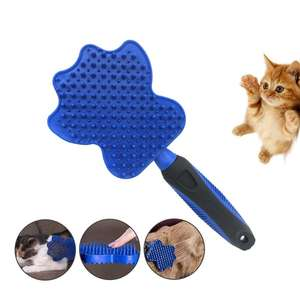 Hond Kat Baden Magic Massage Dubbelzijdige Siliconen Pet Grooming Borstel