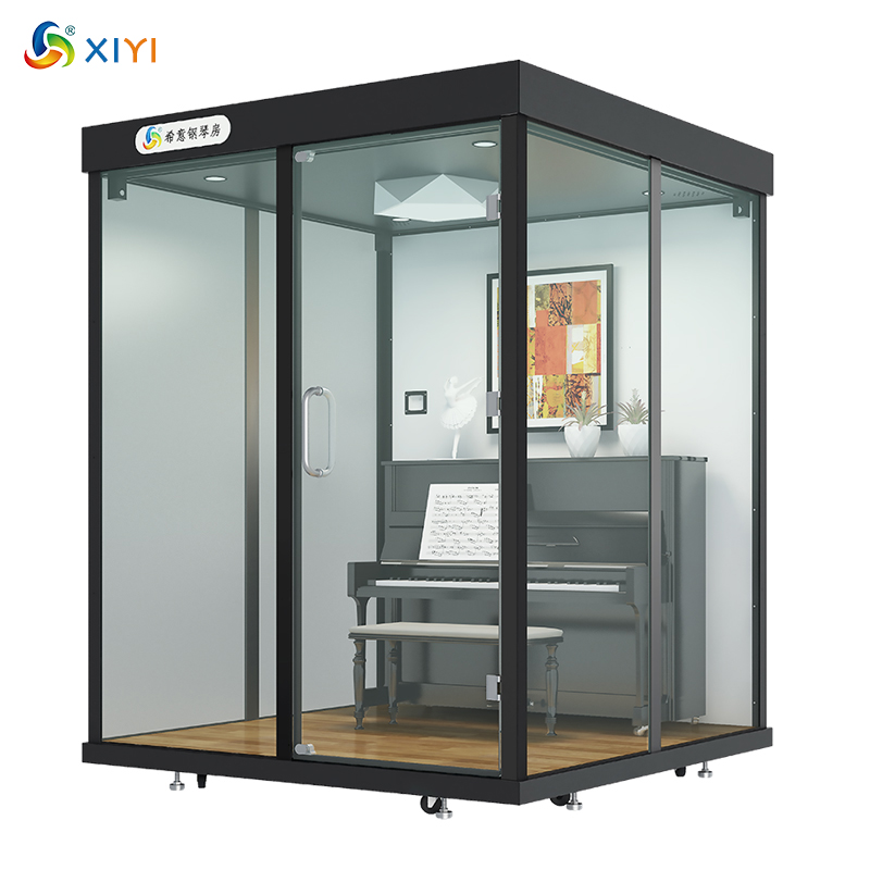 Soundproof Piano Booth Acoustic Insulation Room Practicing Music Studio Broadcasting Office Meeting Cabin Telephone Calling Pod