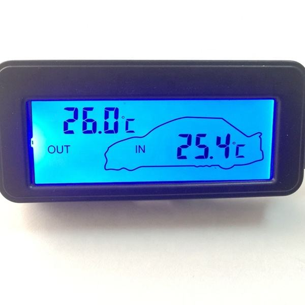 Hot stijl 12v digitale thermometer on-board thermometer backlight mini LCD Auto thermometer