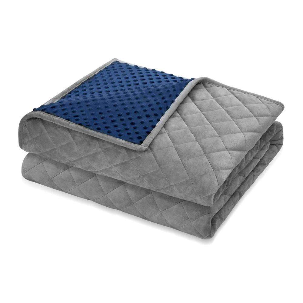 Wholesale Adults Warm Luxury Minky Dot Heavy Sensory Weighted Blanket