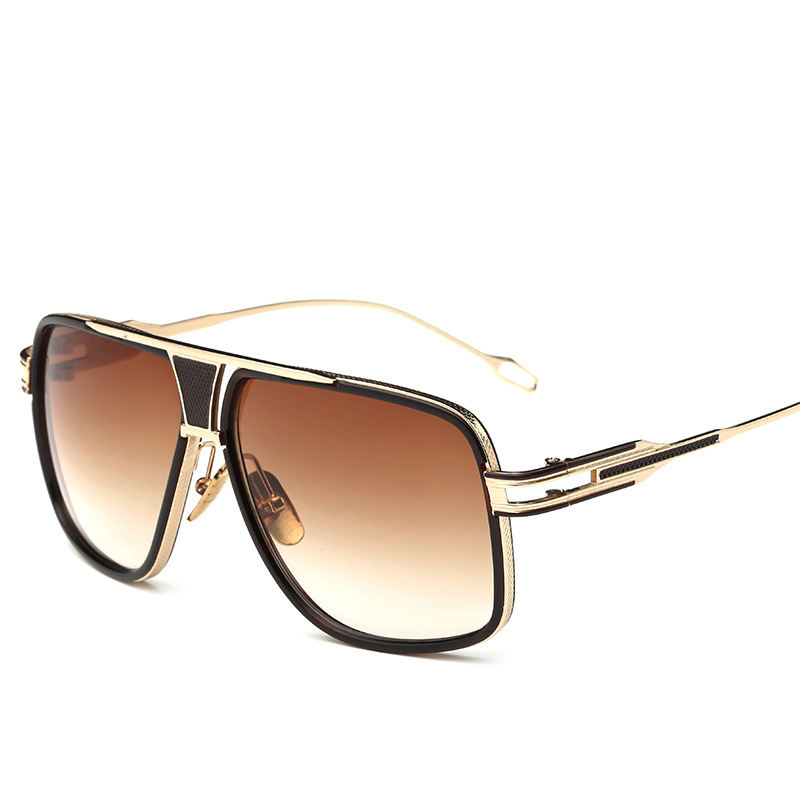 2020 new arrivals unisex box box sunglasses The metal frame hollow design UV400 outdoor travel sunglasses