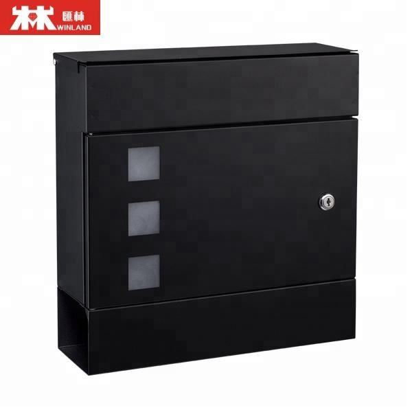 Modern design collection letter boxes colorful wall mounted iron mailbox european style post box
