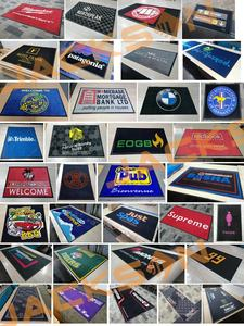 Anti Slip Custom Printed Welcome Logo Door Mat Outdoor Floor Mat