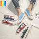 New style casual brand sneakers patchwork canvas shoes man sports shoes