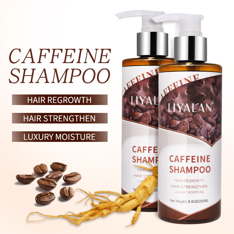 2021 Best Private Label Hair Care Anti Hair Loss Hair Growth Natural Organic Caffeine Shampoo