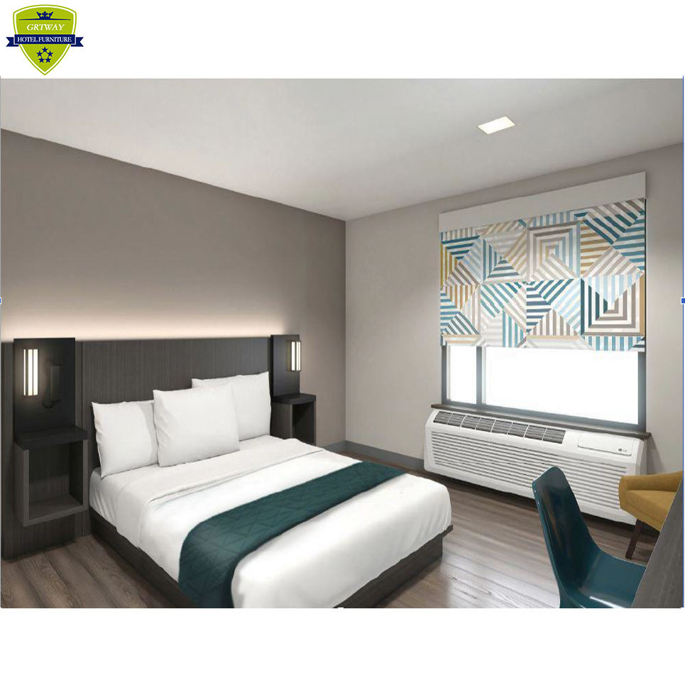 G2634 Hotel Furniture Factory Supply Modern New Design Motel 6 Gemini Hotel Furniture Bedroom Motel 6 Hotel Furniture