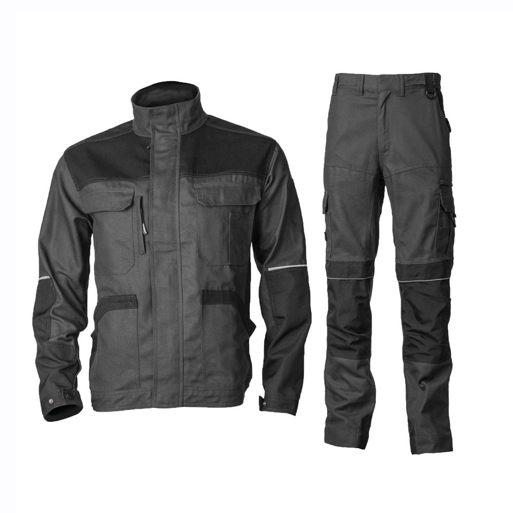 Durable work wear jacket and trousers uniform suit with Cordura knee