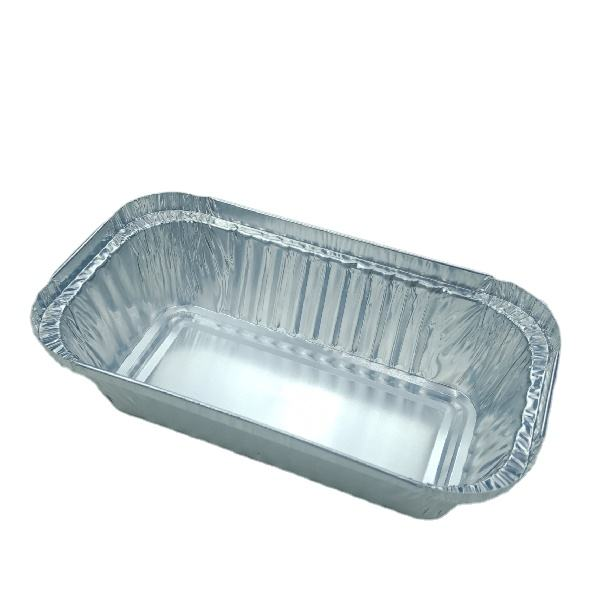 199*115*55mm rectangle shape high quality food grade microwavable disposable aluminum foil food containers packing loaf pans