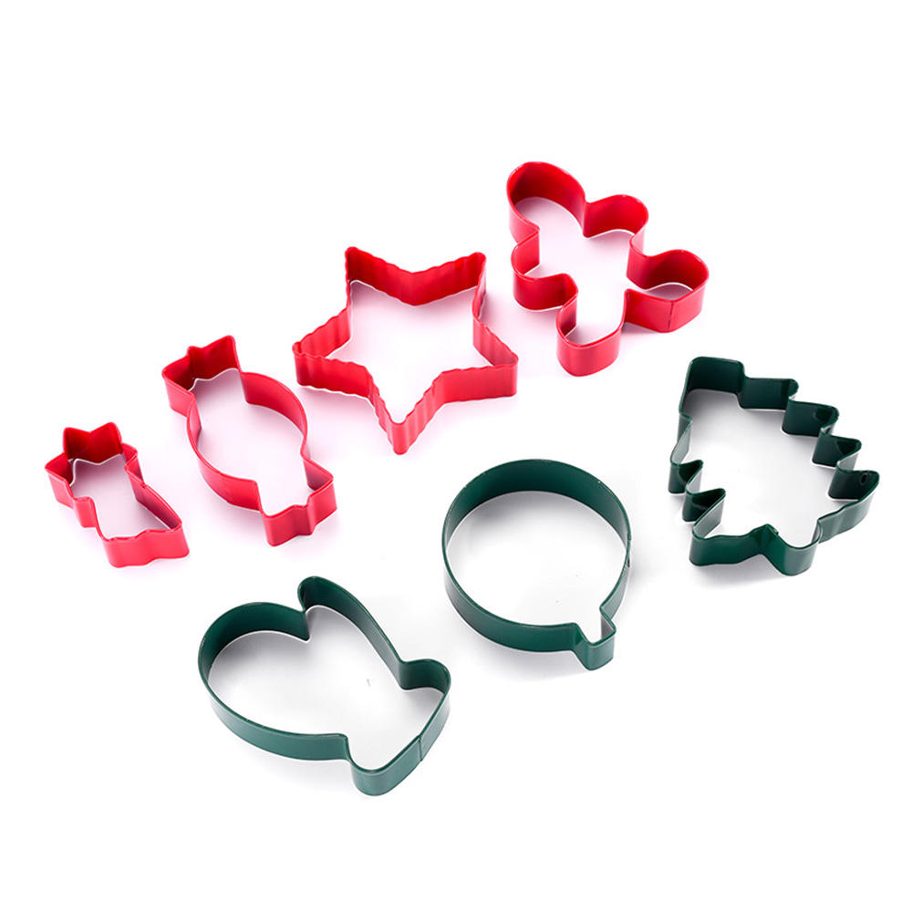 Christmas Gingerman cookie Cutter - Holiday Mini Cookie Cutter set of 7, Include: Gingerbread Man, Christmas Tree,etc