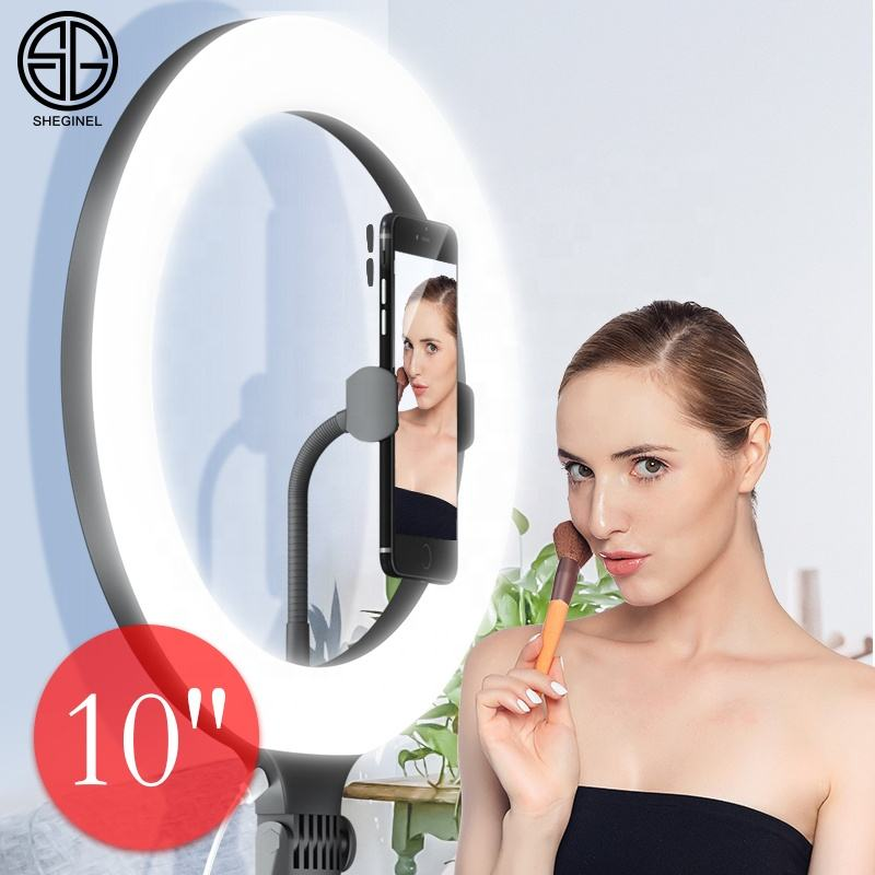 10 Inch Led Selfie Photography Dimmable Selfie Ring Light With Tripod Stand Ring Light With Stand Ring Light