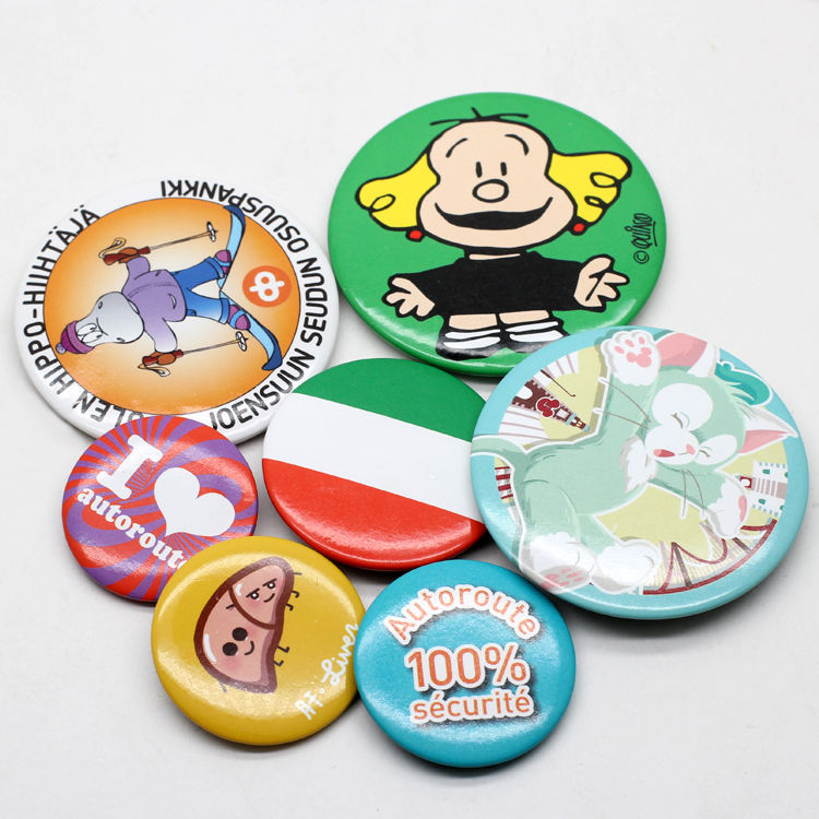 Button Badge Maker Wholesale Custom 58Mm Printed Design Logo Blank Plastic Magnetic Pins Round Tin Button Badge