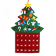DIY Christmas Tree Advent felt calendar christmas decorations outdoor Calendar with Pockets 2019 Xmas Home Door